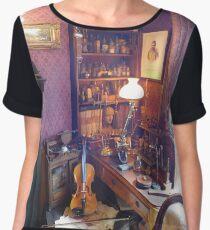 221B Baker Street Details Women's Chiffon Top