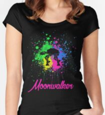 FunnyBONE Moonwalker Women's Fitted Scoop T-Shirt