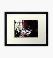 Table for two in Baker Street Framed Print