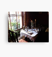 Table for two in Baker Street Canvas Print