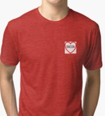 Heart of Bacon Tri-blend T-Shirt