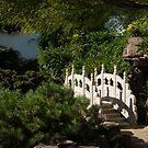 Ornate White Stone Bridge  by Georgia Mizuleva