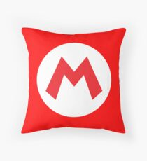 Original Mario Emblem Throw Pillow