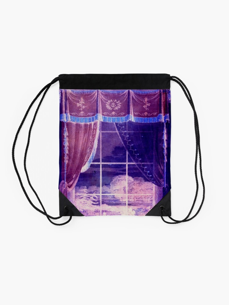 Alternate view of Waiting for the Dawn Drawstring Bag