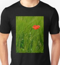 Poppy in Wheat Field Unisex T-Shirt
