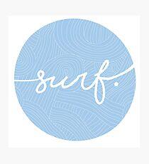 surf. Photographic Print
