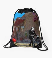 Rude Boy Goes to Target Drawstring Bag