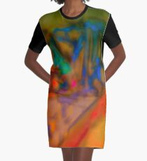 Colorful Abstract Art Laptop Skin Graphic T-Shirt Dress