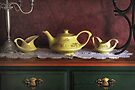 Vintage Yellow Tea Set - Selected in Solo Exhibition women in the arts by Yannik Hay