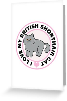 British Shorthair Cat T-Shirts by CafePretzel