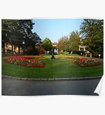 Flower Display At Tonbridge Castle Poster