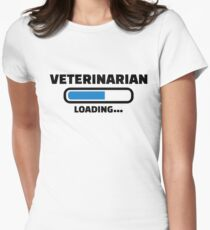 Veterinarian loading Women's Fitted T-Shirt