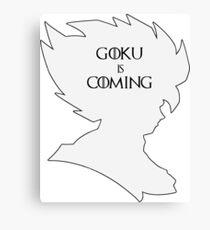 Goku Is Coming Canvas Print