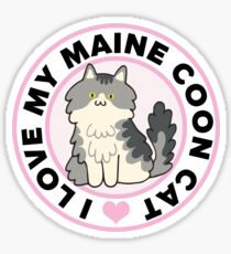 Maine Coon Cat T-Shirts Sticker