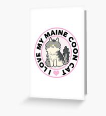 Maine Coon Cat T-Shirts Greeting Card