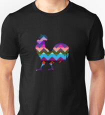 Rooster Chevron Unisex T-Shirt