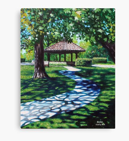 'THE WALK THROUGH MEMORIAL PARK' Canvas Print