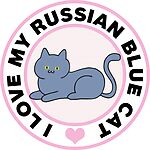 Russian Blue Cat Lover Gifts