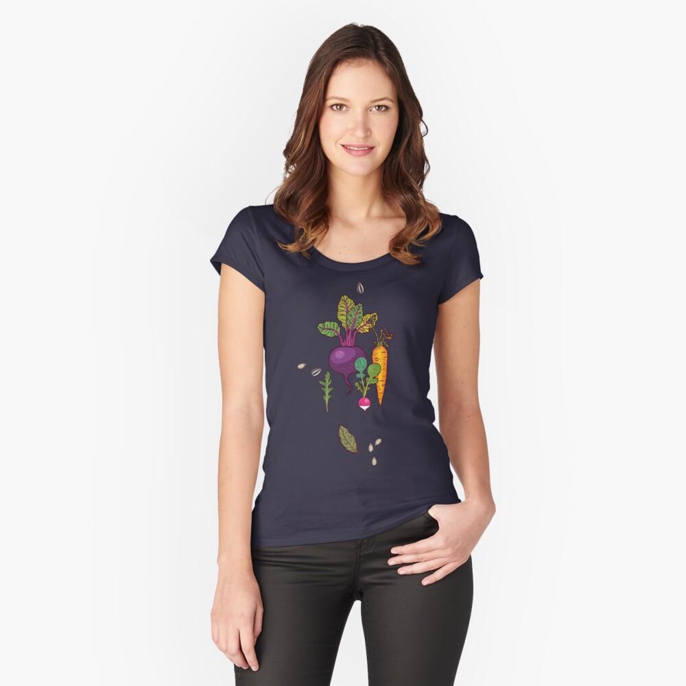 Gärtnertraum Tailliertes Rundhals-Shirt