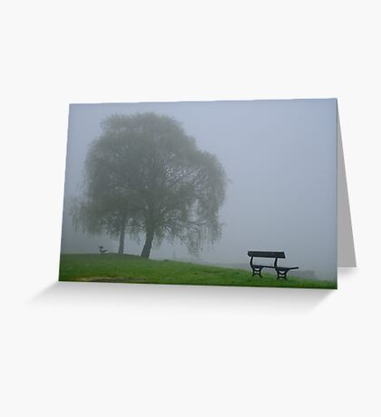 In the mist Greeting Card