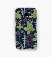 dark herbs pattern Samsung Galaxy Case/Skin