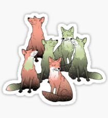 Sleeping foxes Sticker