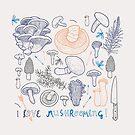 I love mushrooming! by smalldrawing