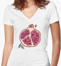 Granatapfelgarten Shirt mit V-Ausschnitt