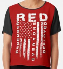 Red Friday - Erinnere dich an alle Chiffontop