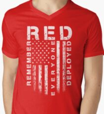 Red Friday - Remember Everyone Deployed Men's V-Neck T-Shirt