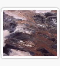 Abstract Acrylic Painting Brown, Black and White Sticker