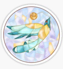 Bird and Button  Sticker