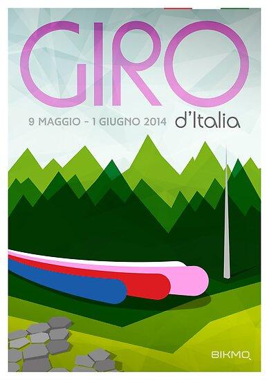 Giro D'Italia 2014 Poster by Bikmo by bikmo