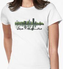 San Francisco California Skyline At Sundown Women's Fitted T-Shirt