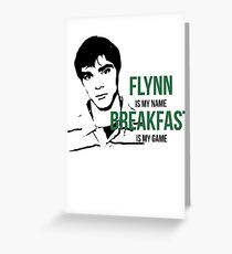 Flynn Loves Breakfast Greeting Card