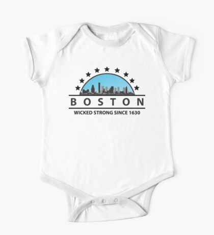 Boston Wicked Strong Since 1630 Kids Clothes