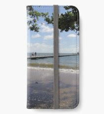 Clump Point Jetty at King Tide January 22 2012 iPhone Wallet/Case/Skin