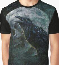 Moon raven skull Graphic T-Shirt