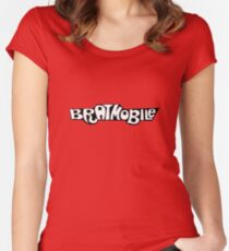 bratmobile logo riot grrrl 90's olympia Women's Fitted Scoop T-Shirt