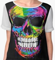 Skull colors 2 Women's Chiffon Top