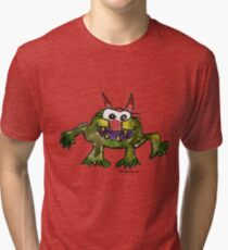 Funny Cartoon MonSTAR Monster 006 Tri-blend T-Shirt