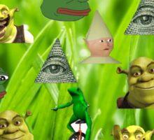 Green theme meme Sticker