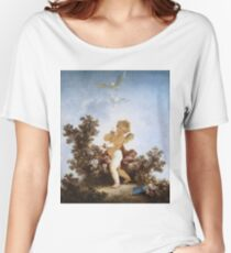 Jean-Honore Fragonard - Love The Sentinel 1790. Child portrait: cute baby, kid, children, pretty angel, child, kids, lovely family, boys and girls, boy and girl, mom mum mammy mam, childhood Women's Relaxed Fit T-Shirt
