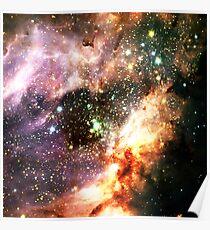 Messier 17   Fresh Universe Poster