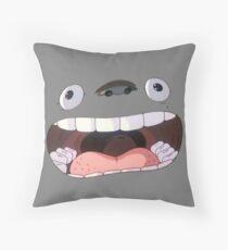 Big Mouth Totoro Throw Pillow