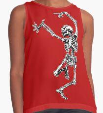 Dancing Skeleton - Transparent Background Contrast Tank