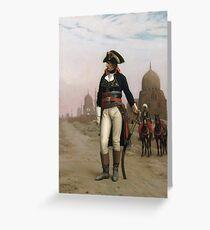 Jean-Leon Gerome - Napoleon In Egypt. Man portrait: strong man, boy, male, beard, business suite, masculine, boyfriend, smile, manly, sexy men, mustache Greeting Card