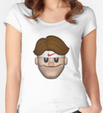SPORT ROGER FEDERER EMOJI Women's Fitted Scoop T-Shirt