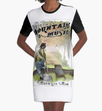 Hillbilly Turtle Graphic T-Shirt Dress
