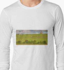 rural ireland scenic nature cows countryside landscape Long Sleeve T-Shirt